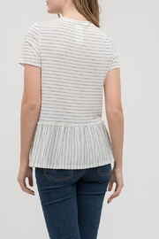 Blu Pepper Baby Striped Tee - Front full body