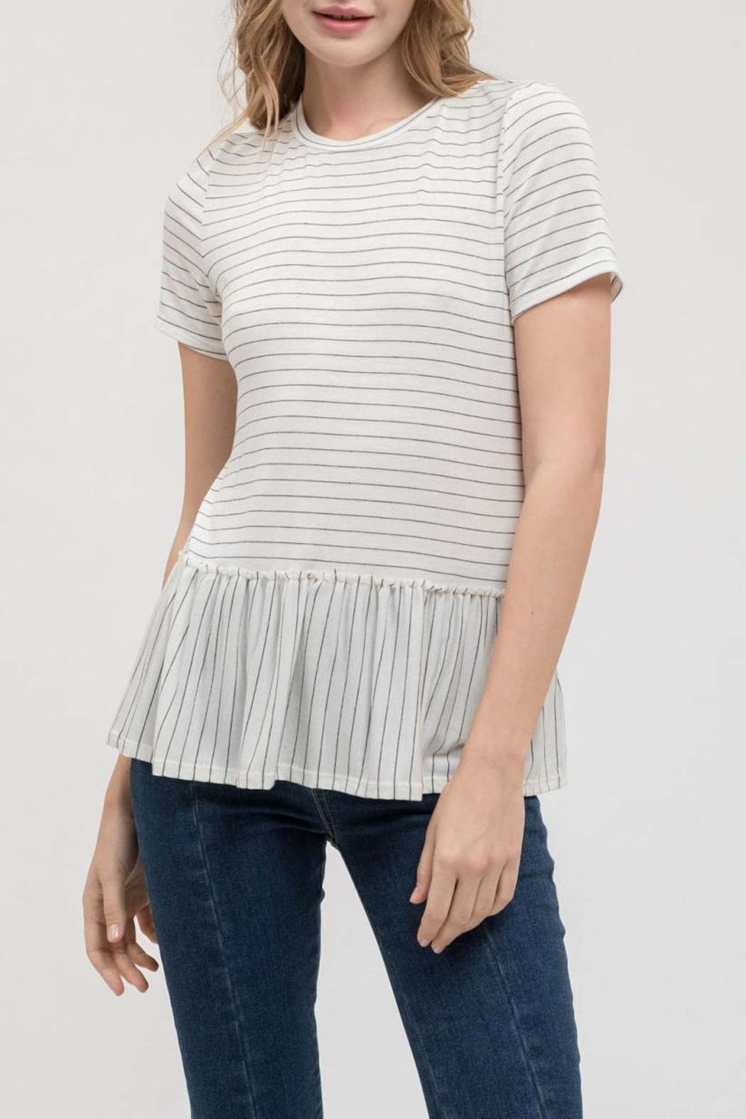 Blu Pepper Baby Striped Tee - Main Image