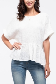 Blu Pepper Back Button Peplum Top - Front cropped