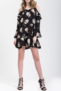 Blu Pepper Black Floral Dress - Product List Image