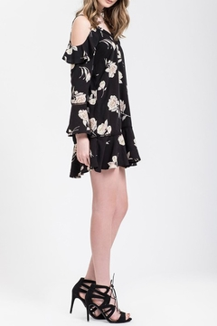 Blu Pepper Black Floral Dress - Alternate List Image
