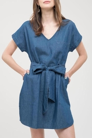 Blu Pepper Blue Chambray Dress - Product Mini Image