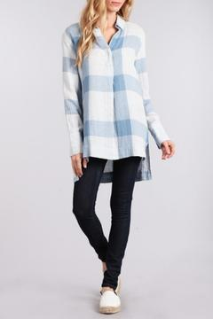 Shoptiques Product: Blue Check Top