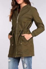 Blu Pepper Bomber Coat - Front cropped