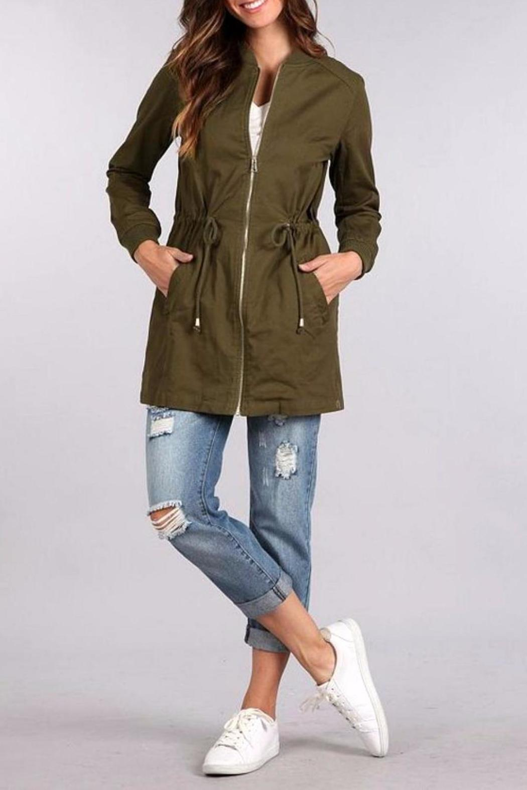 Blu Pepper Bomber Coat - Main Image