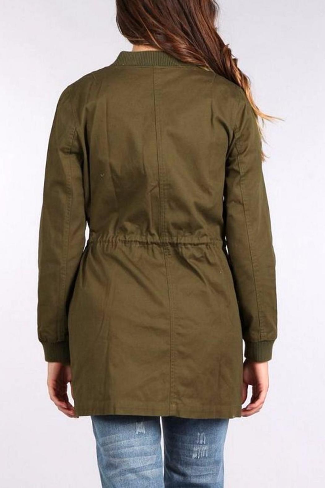 Blu Pepper Bomber Coat - Front Full Image