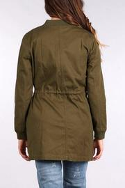 Blu Pepper Bomber Coat - Front full body