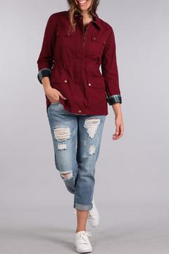Shoptiques Product: Burgundy Cargo Jacket