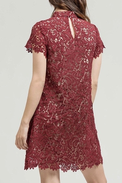 Blu Pepper Burgundy Lace Dress - Alternate List Image
