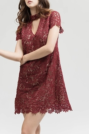 Blu Pepper Burgundy Lace Dress - Product Mini Image