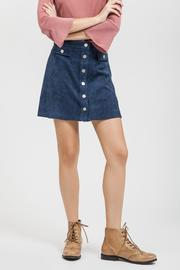Blu Pepper Button Faux Skirt - Product Mini Image