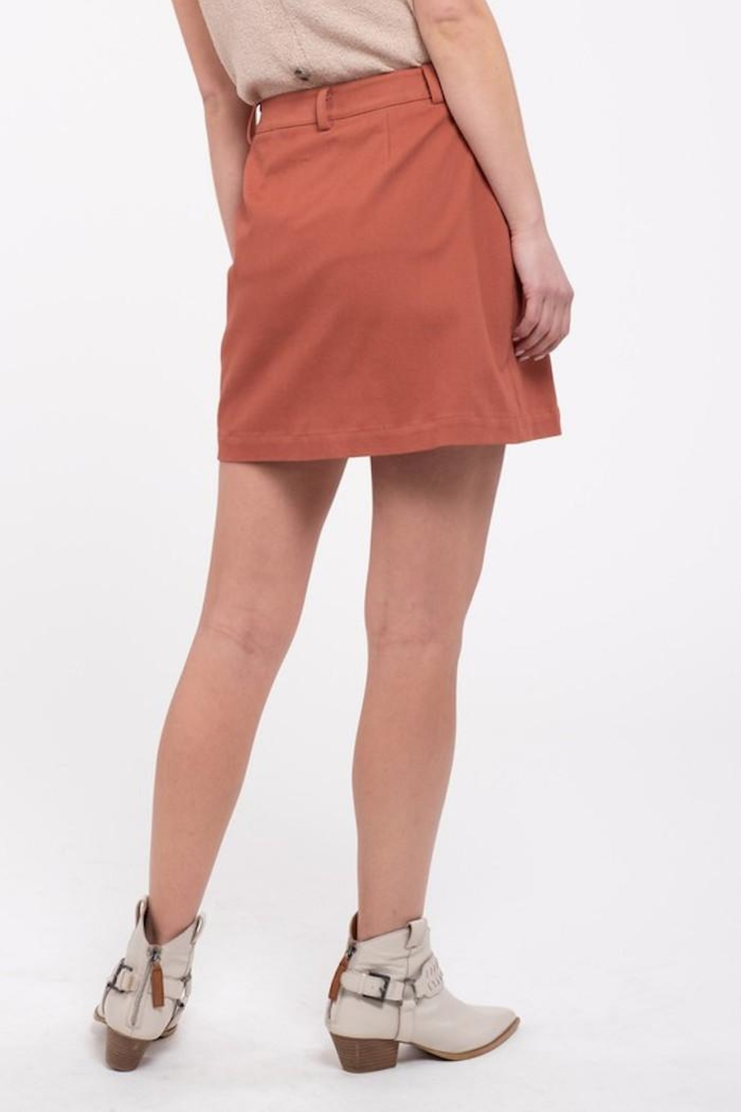 Blu Pepper Button Front Skirt - Side Cropped Image