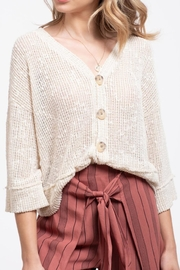 Blu Pepper Buttoned Knit Top - Product Mini Image