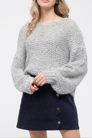 Blu Pepper Chunky Knit Sweater - Front cropped