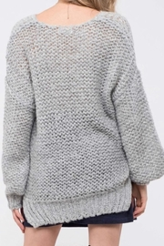 Blu Pepper Chunky Knit Sweater - Front full body