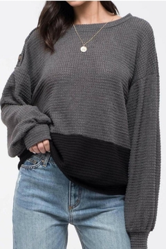 Blu Pepper Color Block Knit Top - Product List Image