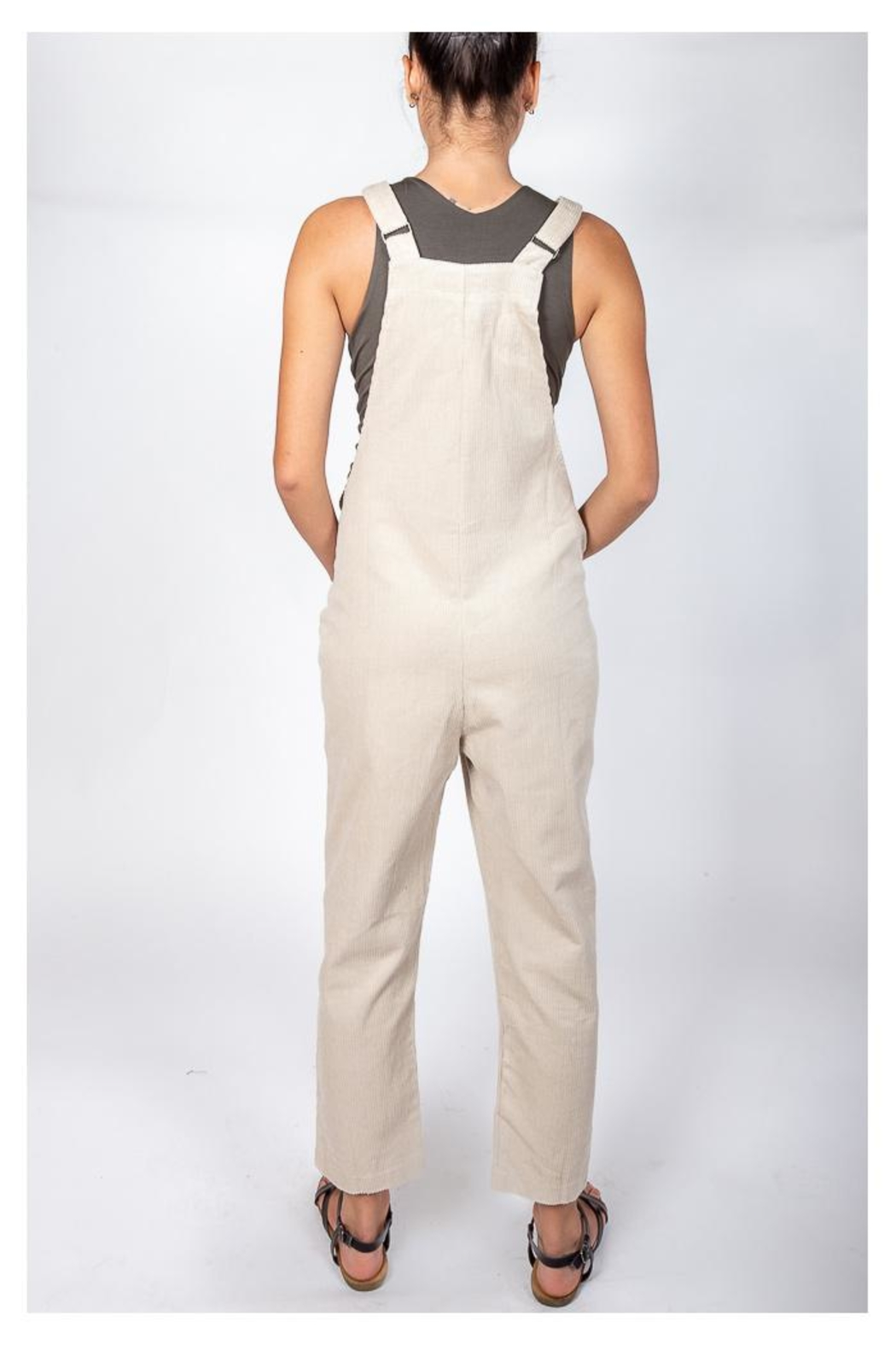 Blu Pepper Corduroy Bear Overalls - Side Cropped Image