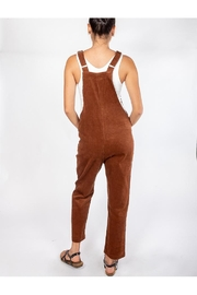 Blu Pepper Corduroy Bear Overalls - Back cropped