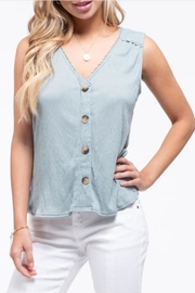 Blu Pepper Crochet Edged Top - Front cropped