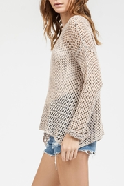 Blu Pepper Crochet Sweater Top - Front cropped