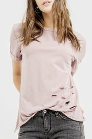 Blu Pepper Distressed Mauve Top - Product Mini Image