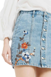 Blu Pepper Emboridery Denim Skirt - Back cropped