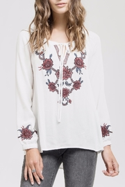 Blu Pepper Embroidered Bohemian Blouse - Product Mini Image