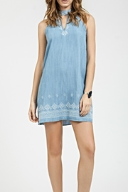 Blu Pepper Embroidered Denim Dress - Product Mini Image