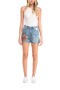 Shoptiques Product: Embroidered Denim Shorts