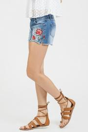Blu Pepper Embroidered Denim Shorts - Back cropped