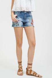 Blu Pepper Embroidered Denim Shorts - Product Mini Image