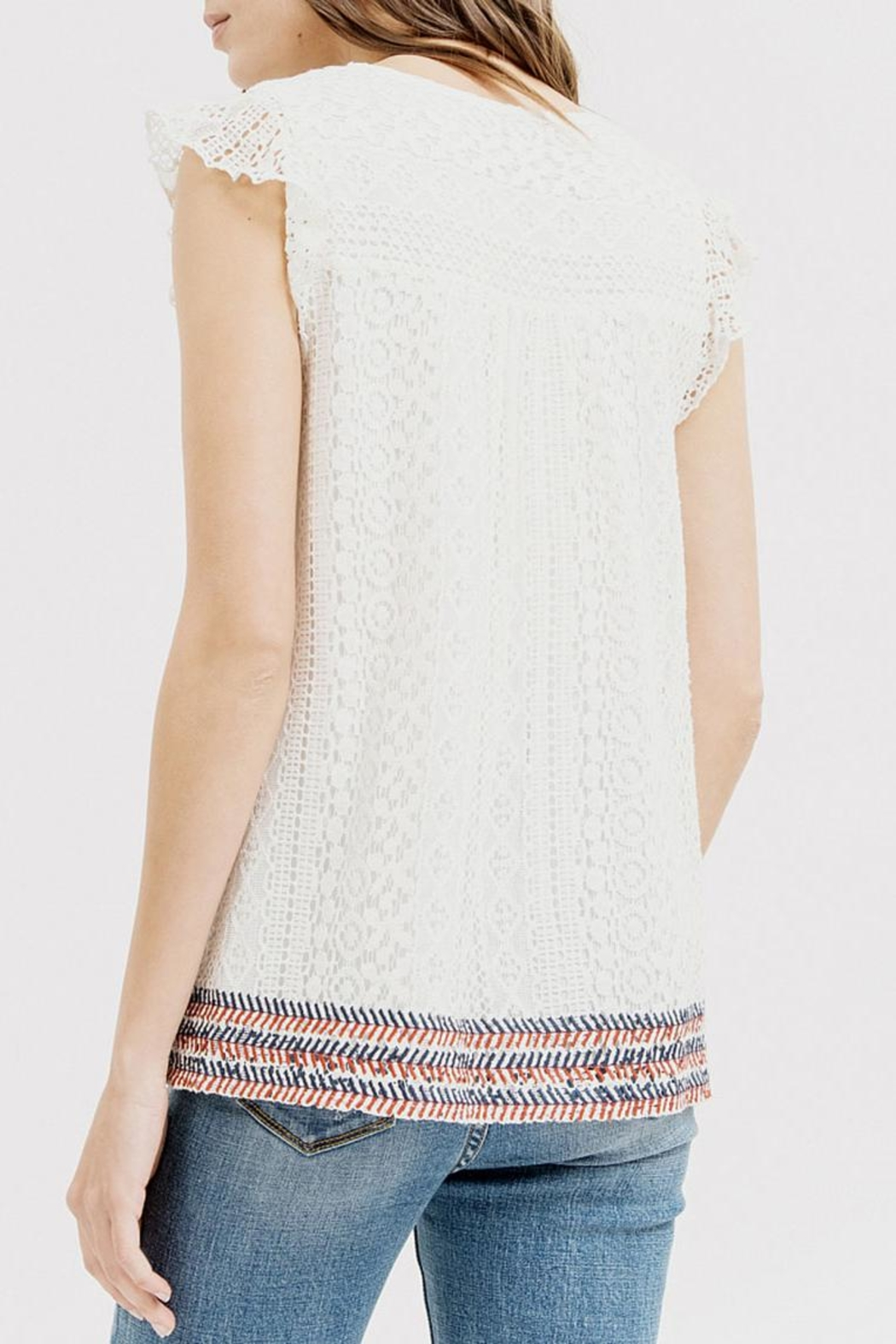 Blu Pepper Embroidered Lace Top - Side Cropped Image