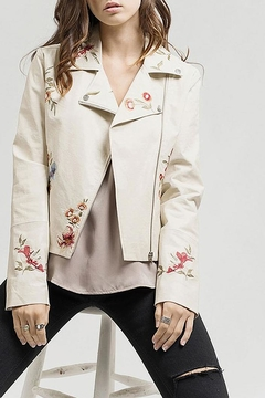 Shoptiques Product: Embroidered Moto Jacket
