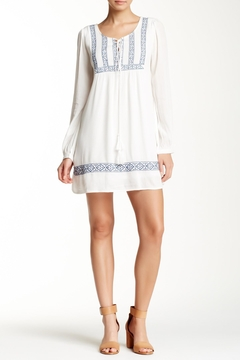 Shoptiques Product: Embroidered Peasant Tunic Dress