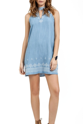 Blu Pepper Embroidered Short Dress - Main Image