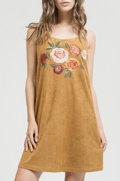 Blu Pepper Embroidered Suede Dress - Product List Image