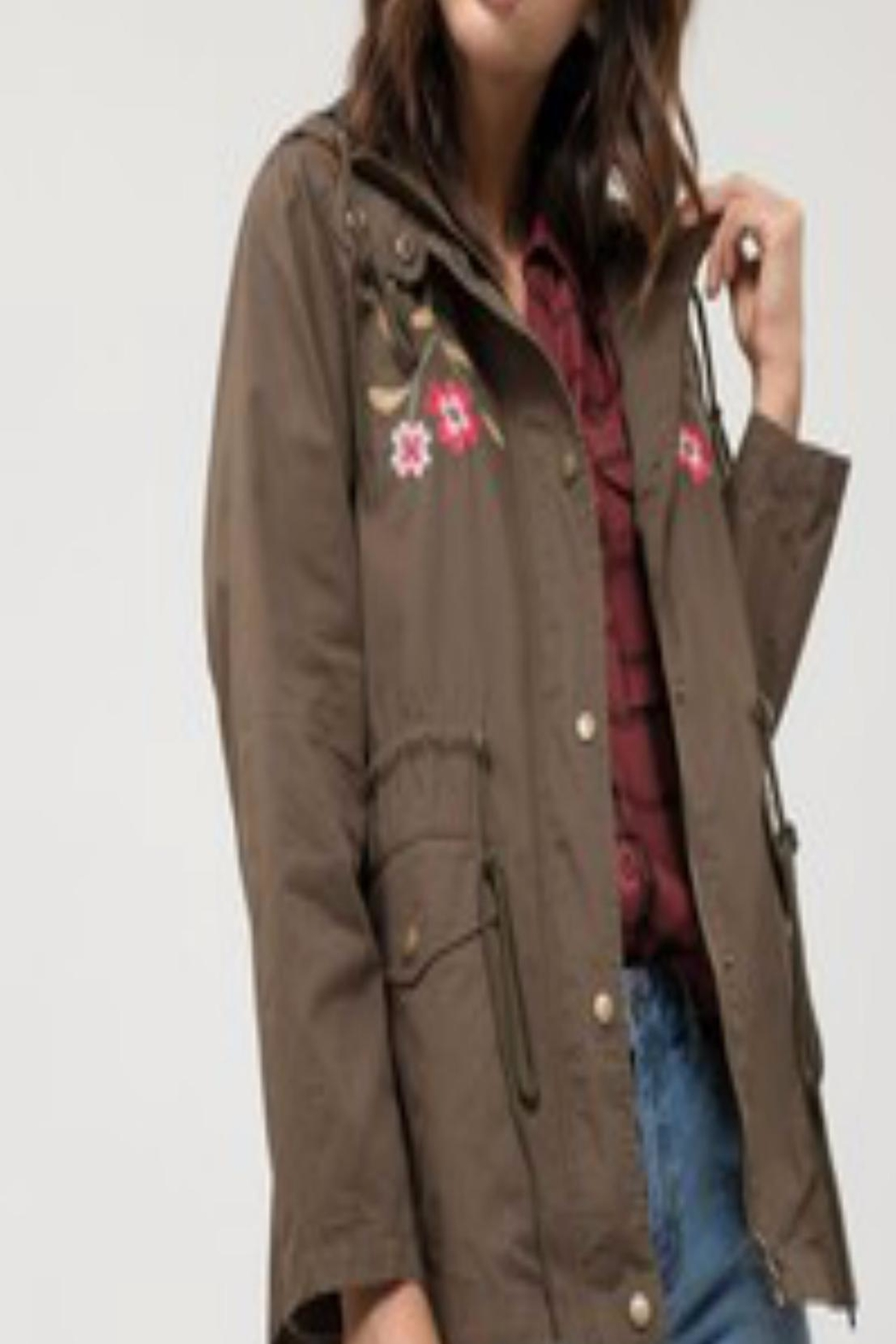 Blu Pepper Embroidered Utility Jacket - Main Image
