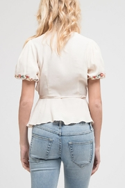 Blu Pepper Embroidered Woven Top - Back cropped