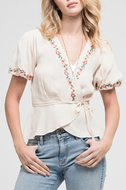 Blu Pepper Embroidered Woven Top - Front cropped
