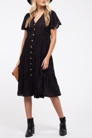Blu Pepper Eyelet Midi Dress - Product Mini Image