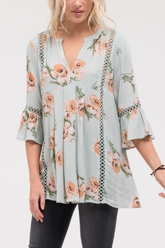 Blu Pepper Floral Bell Sleeve - Product List Image