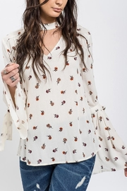 Blu Pepper Floral Bell-Sleeve Tunic - Product Mini Image