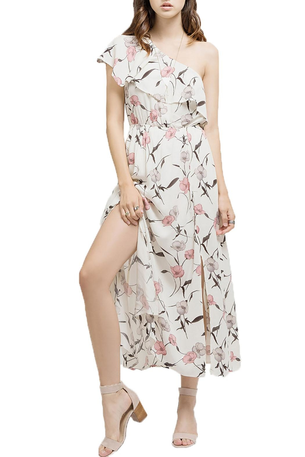 Blu Pepper Floral Ruffled Maxi Dress - Front Full Image