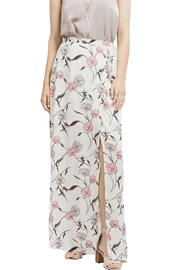 Blu Pepper Floral Maxi Slit Skirt - Front full body