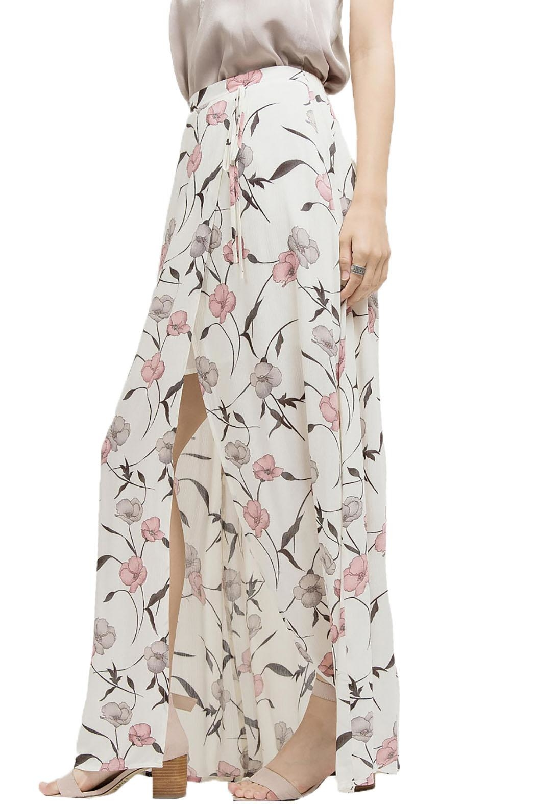 Blu Pepper Floral Maxi Slit Skirt - Side Cropped Image