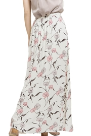 Blu Pepper Floral Maxi Slit Skirt - Back cropped