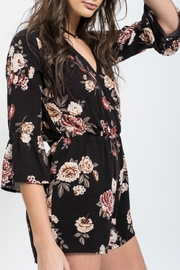 Blu Pepper Floral Print Romper - Product Mini Image