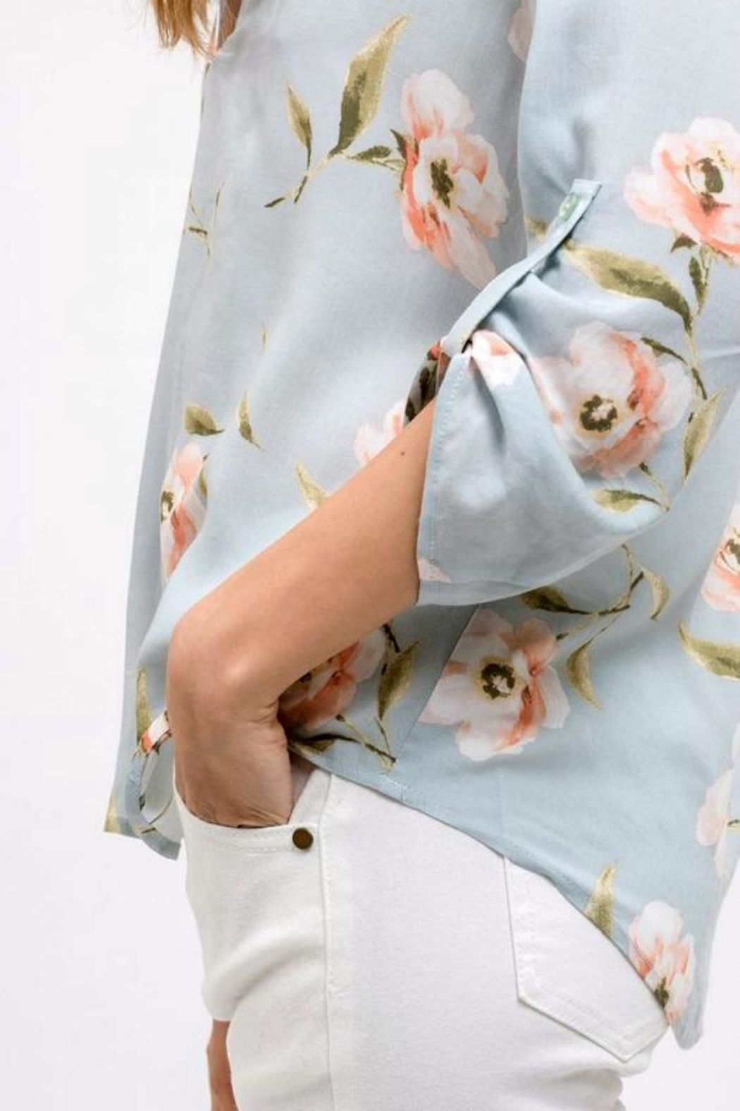 Blu Pepper Floral Print Top - Front Full Image