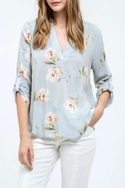 Blu Pepper Floral Print Top - Front cropped