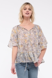 Blu Pepper Floral Tiered Top - Product Mini Image
